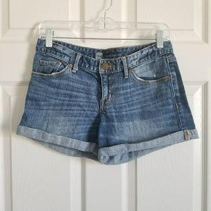 Mossimo Cuffed Jean Shorts